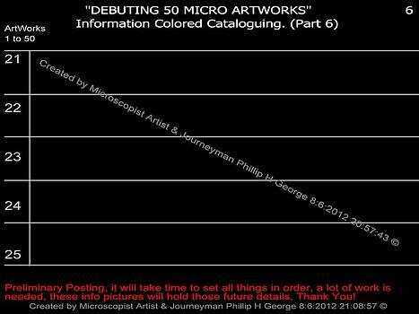 Phillip H George - Debuting 50 Micro Artworks Part 6