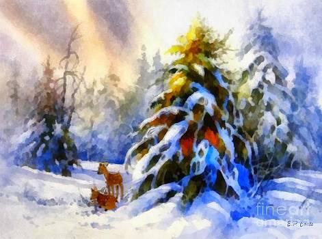 Deer in the Snowy Woods by Elizabeth Coats
