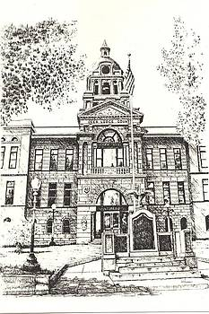 Deer Lodge County Courthouse Anaconda Montana by Kevin Heaney