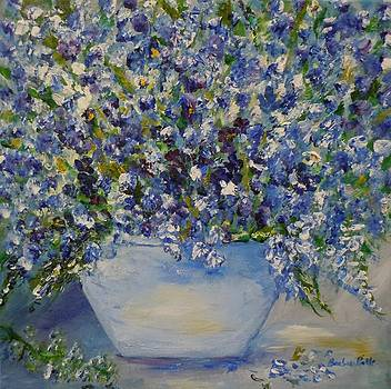 Delphiniums in Blue by Barbara Pirkle