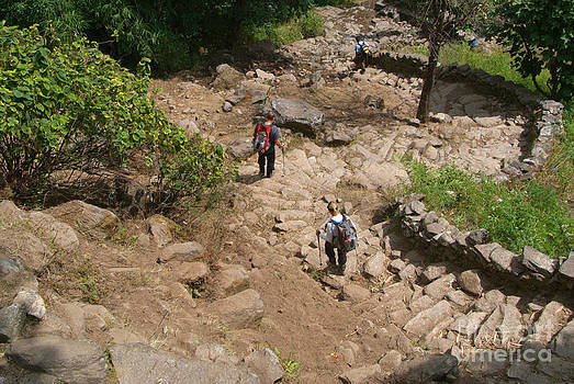 Descending Steps near Tikhedhunga by Serena Bowles