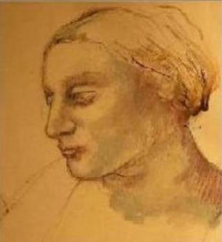Detail Head of Woman by Nancy Berkan