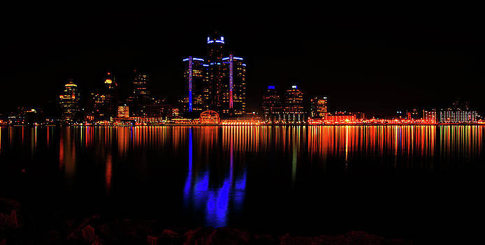 Detroit Shore Lights by Nicole A Talbot