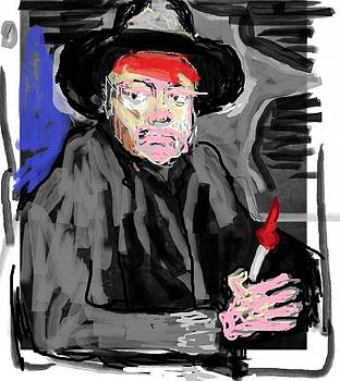 Diego R Painting Himself by Jay Manne-Crusoe