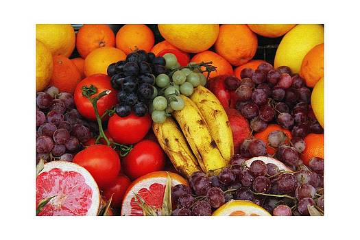 Different Types Of Fruits In A Fruit Basket. by Pradeep Subramanian