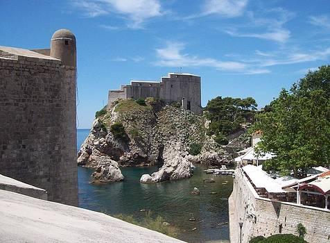 Digital photo of the old town walls  Dubrovnik -croatia by Peter  McPartlin