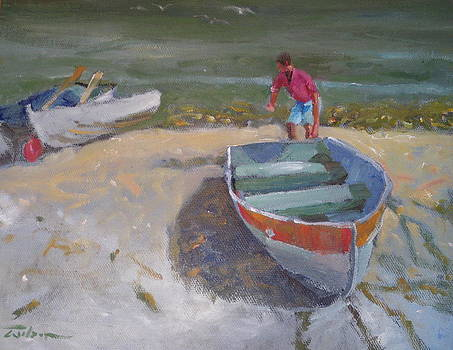 Dinghy Launch by Ron Wilson