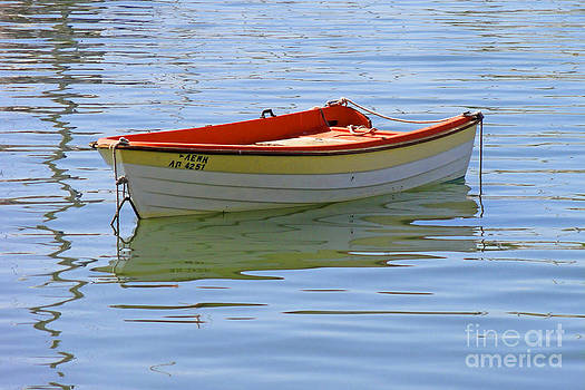 Dingy in the Aegean Sea by Maria Varnalis