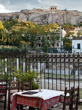 Dining View of the Acropolis by Susan OBrien