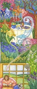Dinner in the Garden by Barbara Esposito
