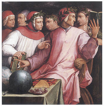 Giorgio Vasari - Dispute Between Dante and the Tuscan Love Poets