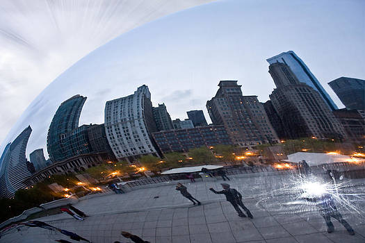 Distorted Chicago - Through the Cloud by Jeramie Curtice