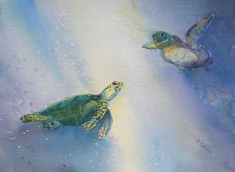 Diving buddies by Lori Chase