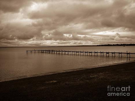 Dock On Houghton Lake by Crissy Sherman
