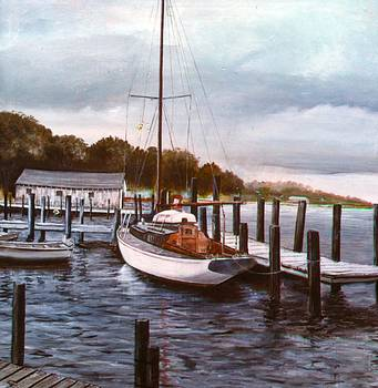 Docked For The Evening by Charles Roy Smith