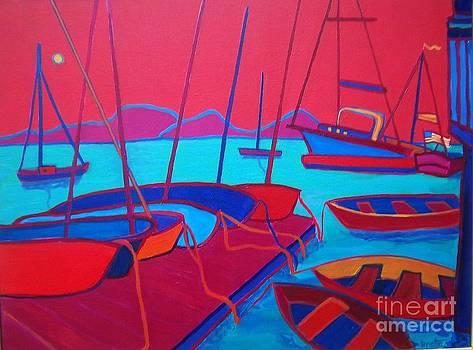 Docked Manchester Harbor by Debra Bretton Robinson