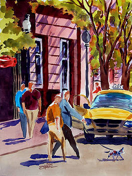 Dog Crossing by Ron Stephens