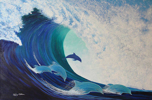 Dolphin Wave by Jeffrey Oldham