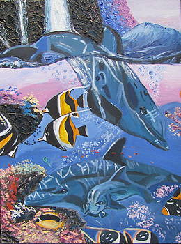 Dolphins by Evgeniya Sohn Bearden