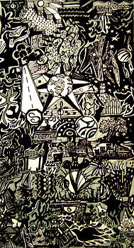 Doodles Black and White by MikAn 'sArt