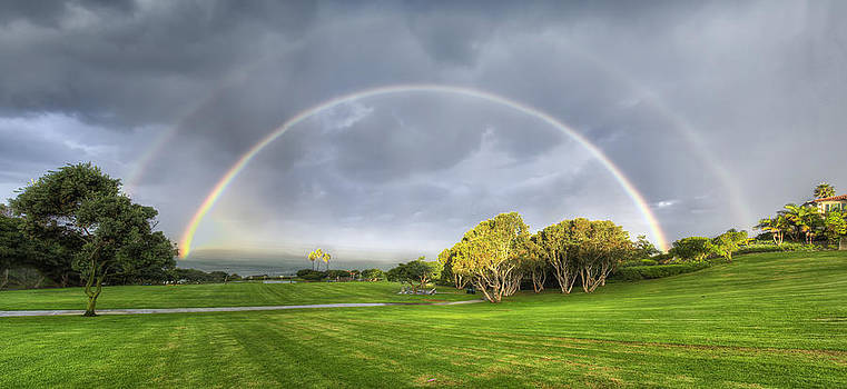 Double Rainbow Over Salt Creek by Terry Jack