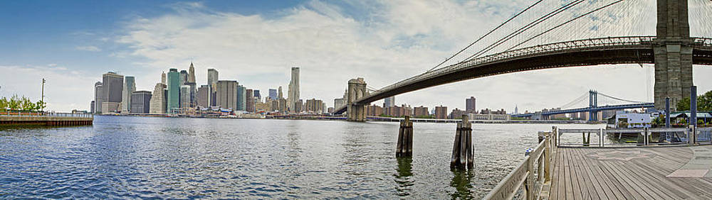 Downtown Manhattan Panorama 1 by Val Black Russian Tourchin
