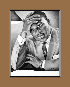 Dr. Martin Luther King with digital mat by Elizabeth Scism