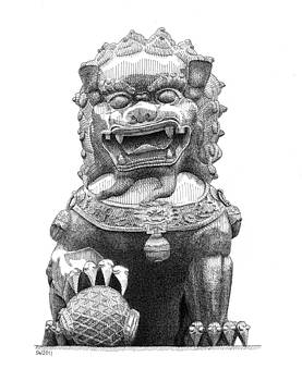 Dragon Statue Summer Palace Beijing by Scott Woyak