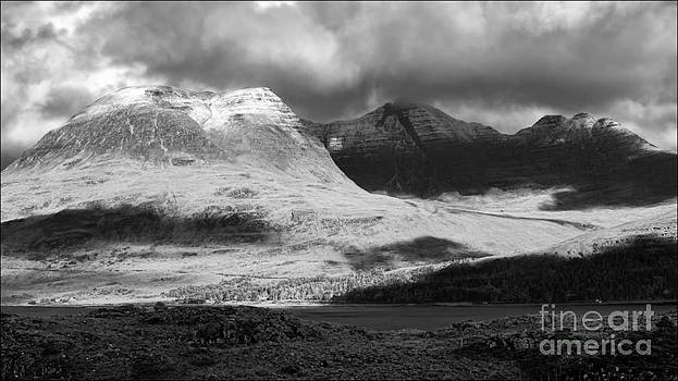 Dramatic Light on Beinn Alligin Infrared by George Hodlin
