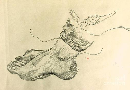Caroline Street - Drawing Class. Feet