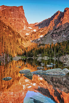 Dream Lake Sunrise Rocky Mountain National Park 2584  by Ken Brodeur