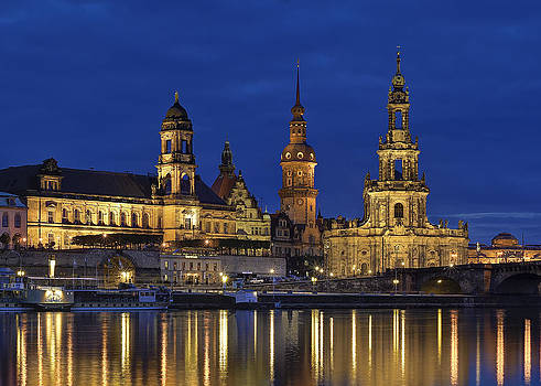 Dresden Palace and Hofkirche by Travel Images Worldwide