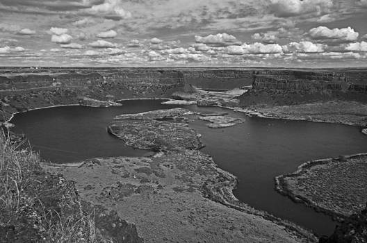 Dry Falls B and W by Seth Shotwell