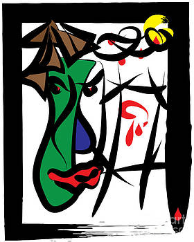 Dual Man about her  - Abstract  by Frank  Gulsftream