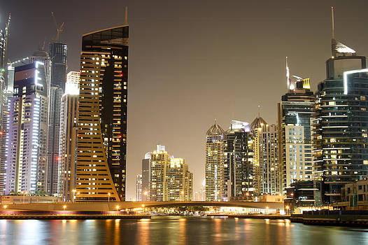Dubai Marina by Night by Thomas Pfeller
