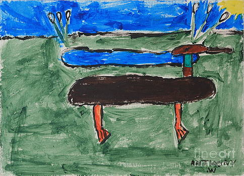 Duck and Pond by the Sea by Anthony White