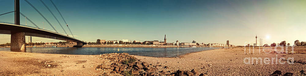 Duesseldorf Rhine Panorama by Frank Waechter
