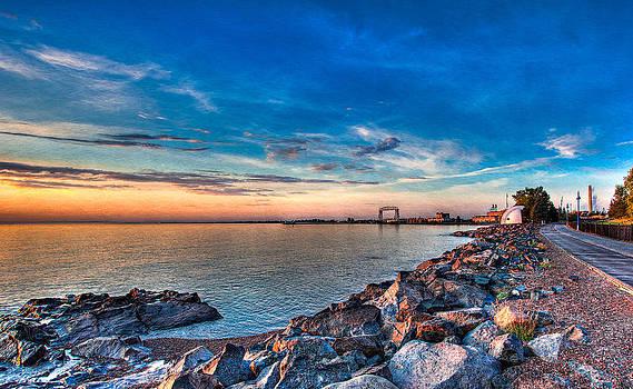 Duluth Harbor by David Wynia