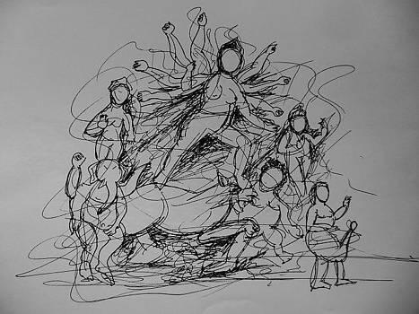 Durga by Shankhadeep Bhattacharya