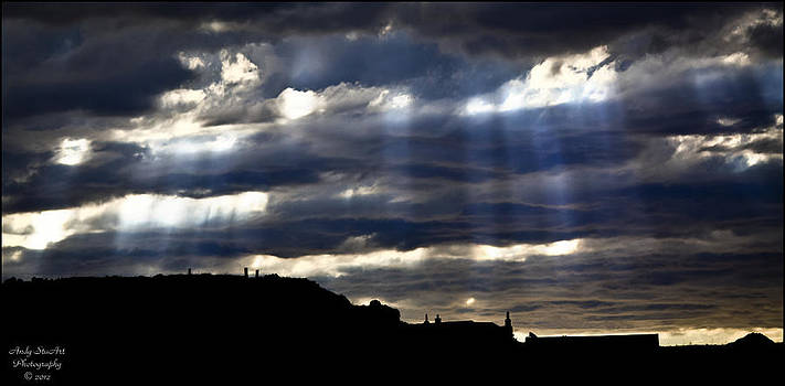 Durness - Crepuscular Rays by Andy Stuart