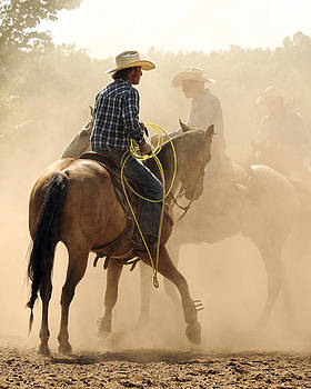 Dust and Saddle Leather by Ron  McGinnis