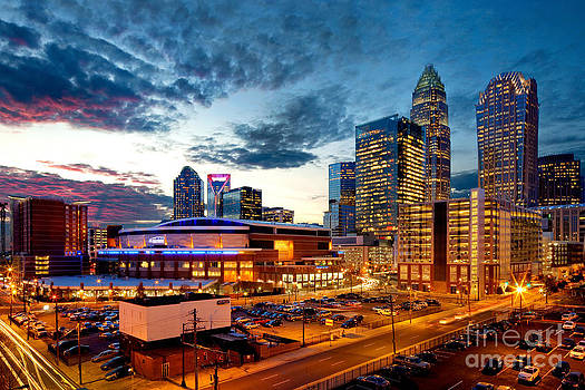 Dynamic cloudy sky over Charlotte NC by Patrick Schneider