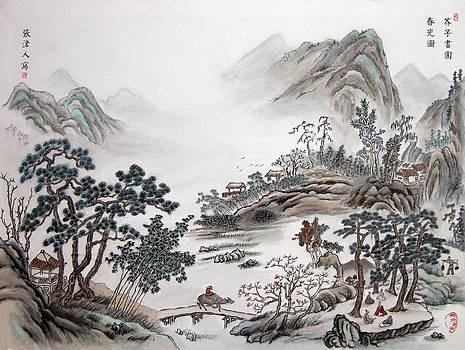 Early spring in jiezi village by Jason Zhang