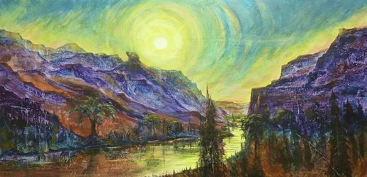 Earth Light Series Wolf Butte Sun by Len Sodenkamp