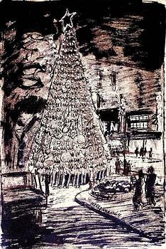Earthtone Christmas Tree by Aileen Markowski