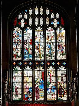 East Window in St Mary's Church Fairford Gloucestershire by Nick Temple-Fry