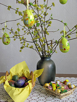 Easter eggs and candies by Ausra Huntington nee Paulauskaite