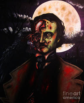 Edgar Allan Poe Zombie by Justin Coffman