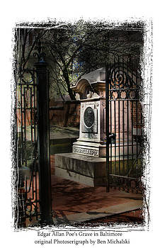 Edgar Allen Poe Grave Site Baltimore MD. by Ben Michalski