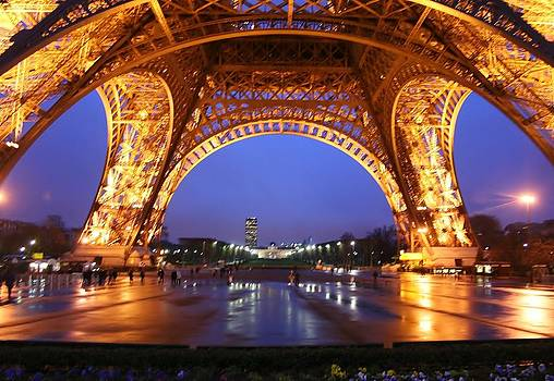 Eiffel Reflections by Christine Burdine